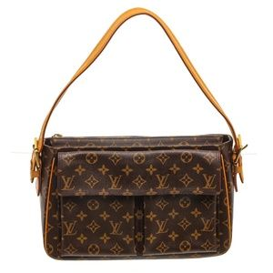 Louis Vuitton Canvas Leather Viva Cite GM Bag